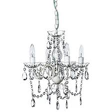 Clear Acrylic Chandelier A2s Chandelier Small White 4 Arm H18 W15