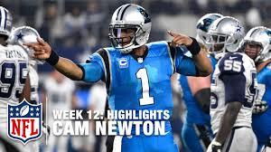 newton highlights week 12 panthers vs cowboys nfl