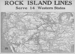 Illinois Railroad Map by The Chicago Rock Island And Pacific Railroad