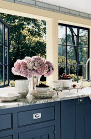 open windows fresh air and lavender hydrangeas complement blue