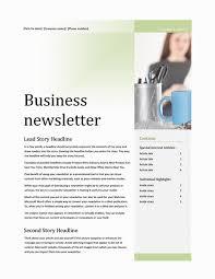 business newsletter office templates