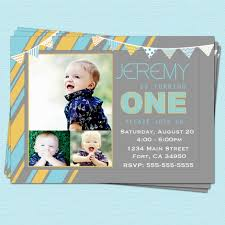 Baby 1st Birthday Invitation Card Baby Boy 1st Birthday Invitation Decorating Of Party