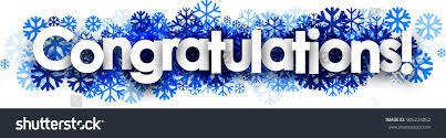 congratulation banner white congratulations banner blue snowflakes vector stock vector