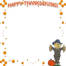thanksgiving clipart boarder pencil and in color thanksgiving
