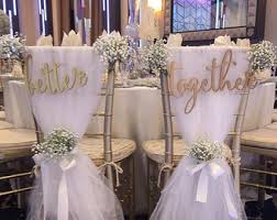 Bride And Groom Chair Signs Wedding Chair Signs Etsy