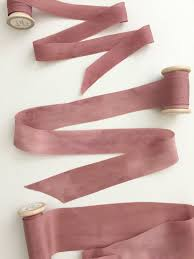 silk ribbon mauve plant dyed silk ribbon