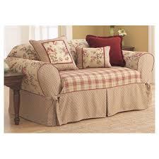 sofa cover sure fit box cushion sofa slipcover reviews wayfair