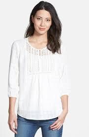 pleione blouse pleione embroidered bib cotton gauze peasant blouse where to buy
