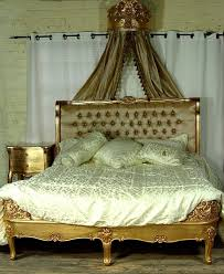 gold french bed 6 ft super king homegenies