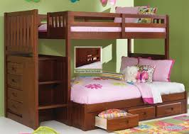 discovery world furniture merlot twin full staircase bunk bed 2814