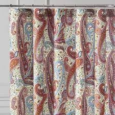 Blue Paisley Shower Curtain Shower Curtains Unique Curtains U0026 Rings Pier 1 Imports
