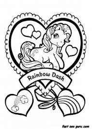 print out my little pony friendship is magic rainbow dash coloring