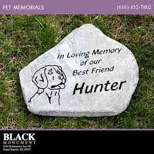 pet memorials black monument