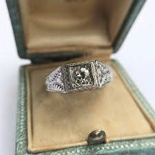 diamond engraved rings images 60ct est antique old european cut diamond engraved man 39 s ring jpg