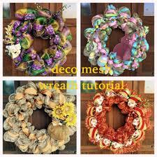 thanksgiving wreaths to make tutorial on how to make a decomesh wreath u2013 creative super