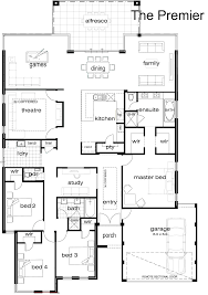 Single Story Home Plans Single Storey House Plans Perth House Plan