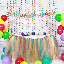 Paper Birthday Decoration Sets Happy Birthday Banner Paper Garland