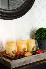 fall decor painted mason jars the idea room