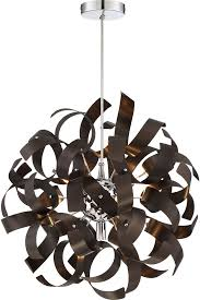Western Pendant Lighting Quoizel Rbn2817wt Ribbons Modern Western Bronze Xenon Pendant