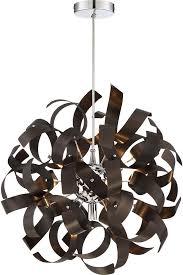ribbon light quoizel rbn2817wt ribbons modern western bronze xenon pendant