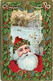 1933 czech christmas postman santa claus postcard vintage santa