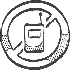 sketch icon of a no cell phone sign icons by canva