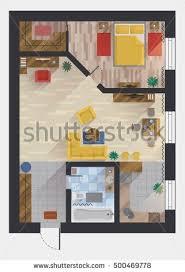 House Floor Plan Creator Apartment Flat House Floor Plan Design Stock Vector 500469778
