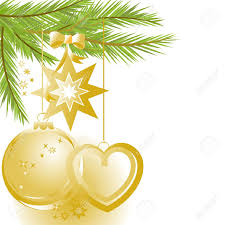 christmas ornaments clipart corner border pencil and in color
