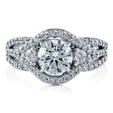 zirconia stone rings images Sterling silver round cubic zirconia cz 3 stone halo engagement jpg