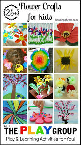 25 flower crafts for kids housing a forest