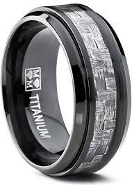 black titanium mens wedding bands 9mm black titanium men s wedding band ring with wide gray carbon