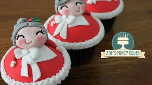 Youtube Christmas Cake Decorations by Christmas Mrs Claus Cupcakes Youtube
