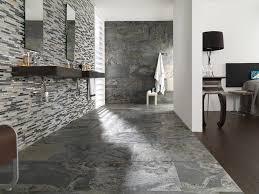 Contemporary Bathroom Bathroom Cozy Laminate Tile Flooring With Floating Sink Vanity