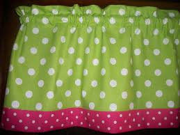 Lime Green Polka Dot Curtains Lime Green Polka Dot Pink White Window Topper Curtain 13 By 42