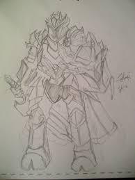 dragon knight pencil sketch nap nowandpast