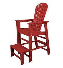 amazon com polywood sbl30sr south beach lifeguard chair sunset
