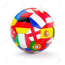 Portugal Football Flag Soccer Football Ball With Europe Countries European Flags Isolated
