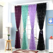 Blackout Kitchen Curtains Floral Colorful Curtains For Window Curtain Panel Semi Blackout