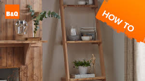 Making A Wooden Shelf Unit by How To Build A Ladder Shelving Unit Youtube