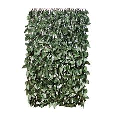 gardenkraft 26140 2 x 1 m dark ivy expandable artificial willow