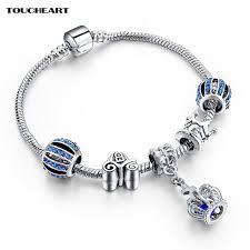 blue bangle bracelet images Toucheart 2018 silver color charm bangle bracelet with royal jpg