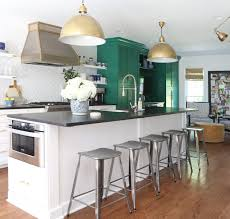 green kitchen cabinets with white island 5 shades of green for your kitchen cabinets emily a clark