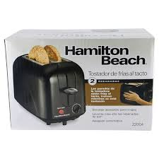 Hamilton Beach Two Slice Toaster Hamilton Beach 2 Slice Cool Touch Toaster Black Meijer Com