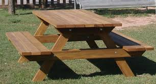 How To Make A Benchless Picnic Table by Mesa Picnic Madera 019 Mesa Picnic Madera Pinterest