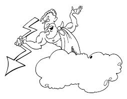 imagenes de zeus para dibujar faciles dibujo de zeus con un rayo para colorear dibujos net