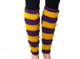 mardi gras leg warmers yellow striped knit boot topper leg warmer
