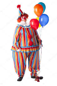 balloons clown clowns clown holding colorful helium balloons stock