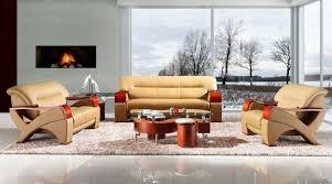 Designs Of Sofa Sets Modern Bonded Leather Sofa Set With Wooden Armrests Fresno California V2034