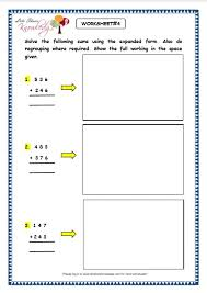 grade 3 maths worksheets addition 3 5 addition using expanded