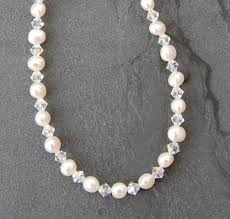 pearls swarovski crystals necklace images Freshwater pearl swarovski crystal necklace fn04 jpg